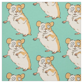 Cute Hamster Pattern Fabric