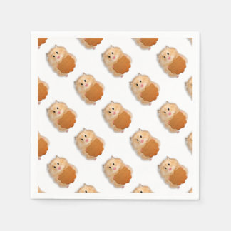 Cute hamster with biscuit illustration gift disposable napkins