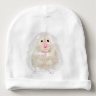 Cute hamster with illustration gift by Gemma Orte Baby Beanie