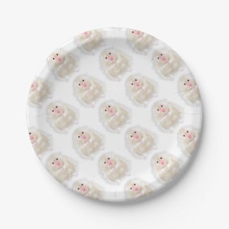 Cute hamster with illustration gift by Gemma Orte Paper Plate
