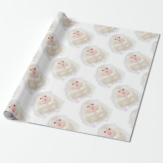Cute hamster with illustration gift by Gemma Orte Wrapping Paper