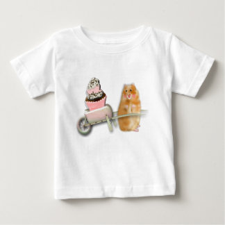 Cute hamster with muffin illustration gift baby T-Shirt