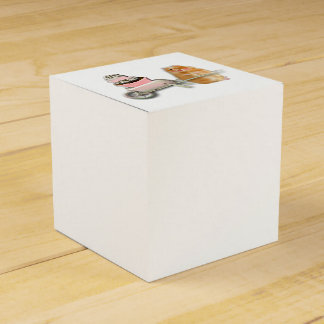 Cute hamster with muffin illustration gift favor box