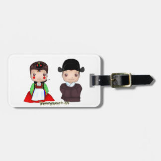 Cute Hanbok Married couple Luggage Tag