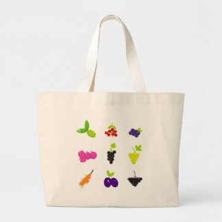 Cute hand-drawn Art Fruit edition Large Tote Bag