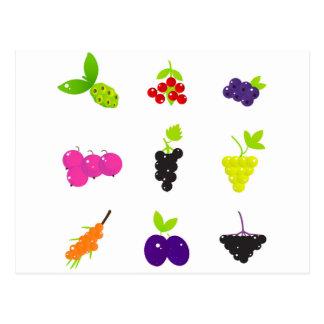 Cute hand-drawn Art Fruit edition Postcard