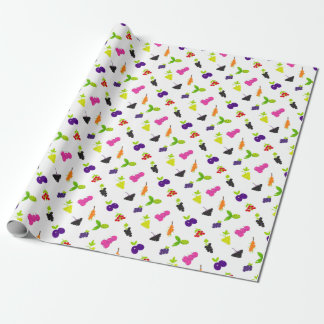 Cute hand-drawn Art Fruit edition Wrapping Paper
