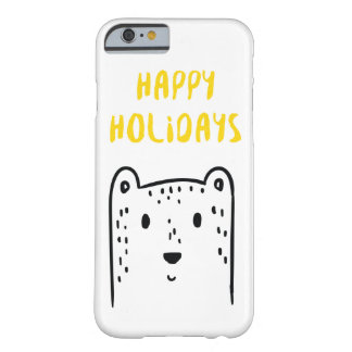 "Cute hand drawn Christmas beer ""Happy holidays"" Barely There iPhone 6 Case"