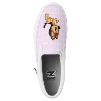 Cute Hand Drawn Dog Switchable ZIPZ® Shoes