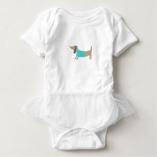 Cute hand drawn doggie baby bodysuit