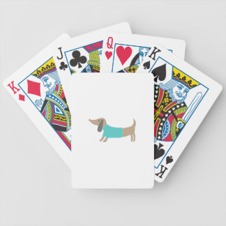 Cute hand drawn doggie bicycle playing cards