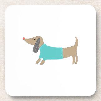 Cute hand drawn doggie coaster