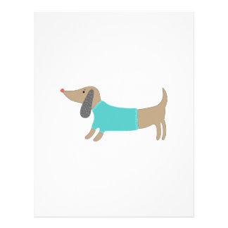 Cute hand drawn doggie letterhead