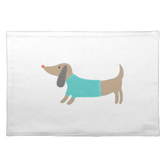 Cute hand drawn doggie placemat