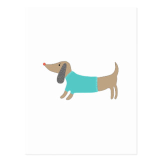 Cute hand drawn doggie postcard