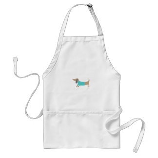 Cute hand drawn doggie standard apron