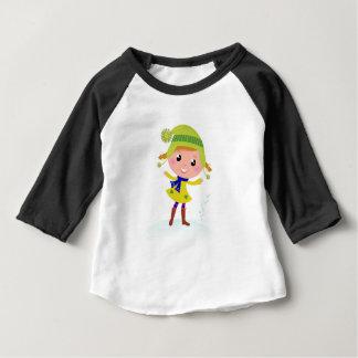 Cute hand-drawn Green Elf Baby T-Shirt