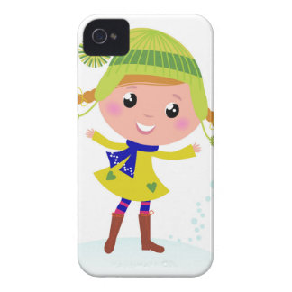 Cute hand-drawn Green Elf iPhone 4 Case-Mate Cases