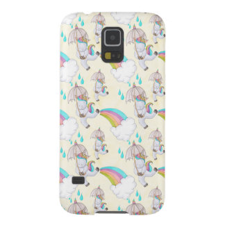 Cute Hand Drawn Unicorn Pattern Galaxy S5 Cover