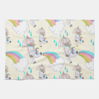 Cute Hand Drawn Unicorn Pattern Kitchen Towel
