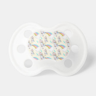 Cute Hand Drawn Unicorn Pattern Pacifier