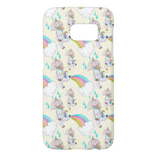 Cute Hand Drawn Unicorn Pattern Samsung Galaxy S7 Case
