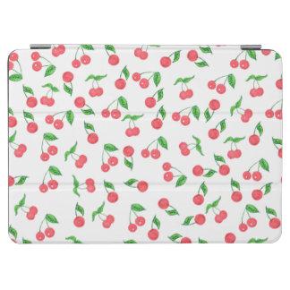 cute hand drawn watercolor cherry pattern iPad air cover