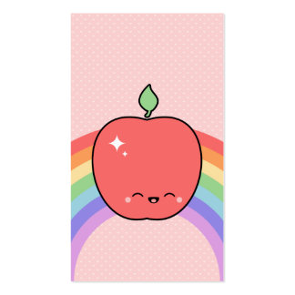 Cute Happy Apple Pack Of Standard Business Cards