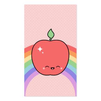 Cute Happy Apple Business Card Template