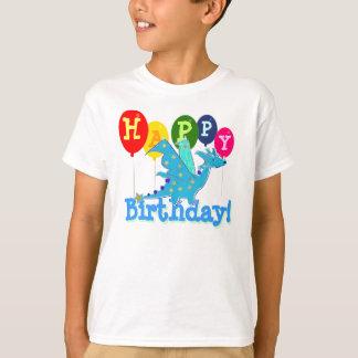 Cute Happy Birthday Dragon Party Balloons Kids Tee