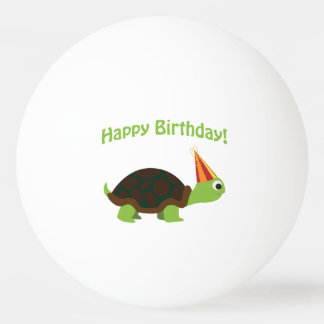 Cute Happy Birthday! Turtle Ping Pong Ball