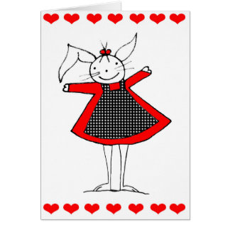 Cute Happy Bunny Love Card