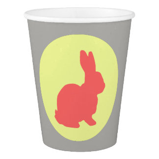 Cute Happy Bunny Party Paper Cup