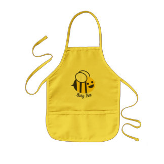 Cute Happy Busy Bumble Bee Kids Apron
