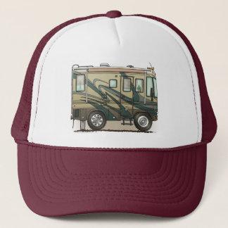 Cute Happy Camper Big RV Coach Motorhome Trucker Hat