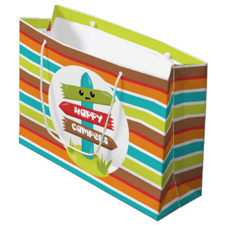 Cute Happy Campers sign party bag