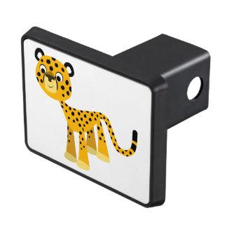 Cute Happy Cartoon Cheetah Trailer Hitch Cover
