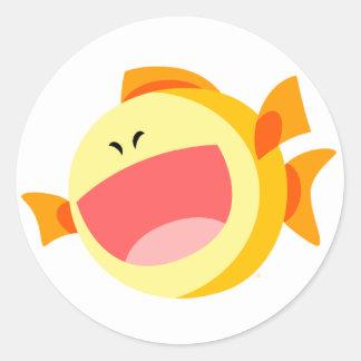 Cute Happy Cartoon Fish Sticker