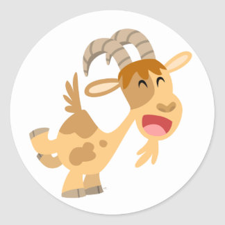 Cute Happy Cartoon Goat Sticker