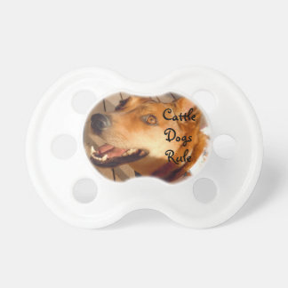 Cute Happy Cattle Dog Pacifier