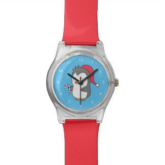 Cute Happy Christmas Penguin Candy Cane For Kids Watch