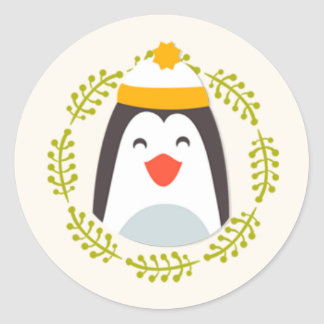 Cute Happy Christmas Penguin Stickers