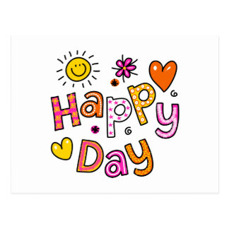 Cute Happy Day Christian Greeting Text Expression Postcard