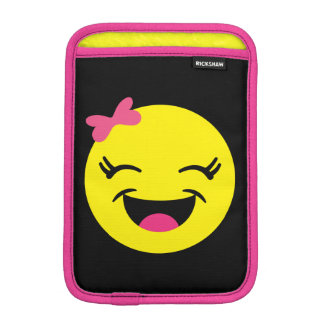 Cute & Happy Emoji Girl iPad Mini Sleeve