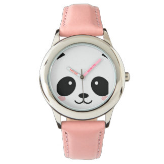 Cute Happy Face Panda Wristwatch