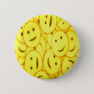 Cute happy faces collage 2 inch round button