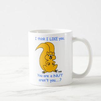 Cute Happy Friendly Cartoon Squirrel Friendship Coffee Mug