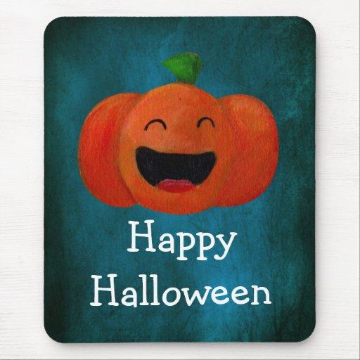 Cute Happy Halloween Pumpkin Mousepad