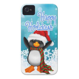Cute Happy Holidays Penguin iPhone 4 Case