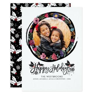 Cute Happy Holidays Photo Card